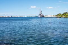 Frontal view of the USS Missouri Stock Image
