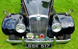 Frontal view of vintage car Stock Image