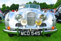 Frontal view of vintage car Royalty Free Stock Image