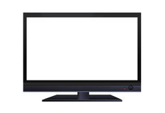 Frontal view of widescreen lcd monitor isolated. Frontal view of widescreen lcd monitor  isolated on white background Royalty Free Stock Photo
