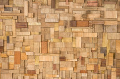 Wood Texture - Ecological Background. Frontal view of a wooden panel with an original and different texture Stock Photography