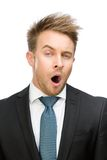 Frontal view of yawing businessman Royalty Free Stock Photography