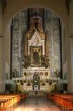 Frontal visto da igreja antiga do altar Foto de Stock