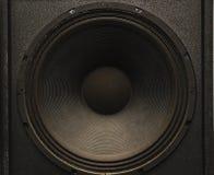 Frontale beeld audiospreker met het kronkelen van membraan royalty-vrije stock afbeeldingen