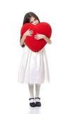 Frontale del vista del cuore de la estafa de Bambina Imagen de archivo libre de regalías