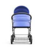 Frontale mening van een babywandelwagen die op witte achtergrond wordt geïsoleerd 3d Royalty-vrije Stock Afbeeldingen