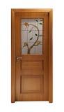 Tür mit Blumen Lizenzfreie Stockbilder