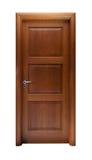 Tür lokalisiert auf Weiß Lizenzfreies Stockbild