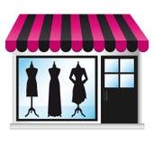 Frontdoor hermoso del boutique de la manera. Fotografía de archivo