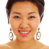 Fronte abbastanza asiatico della donna Fotografie Stock