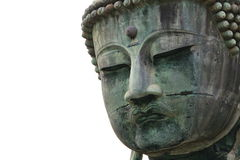 Fronte antico della statua del Buddha Fotografia Stock
