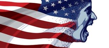 Fronte arrabbiato U.S.A. Immagini Stock