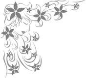 Fronte artistico della donna con i fiori illustrazione di stock