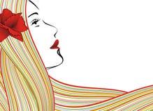 Fronte astratto della donna royalty illustrazione gratis