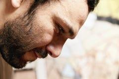Fronte barbuto dell'uomo Fotografia Stock Libera da Diritti