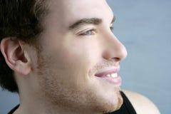 Fronte bello del giovane del ritratto di profilo Immagini Stock