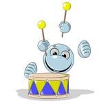 Fronte blu di smiley illustrazione di stock