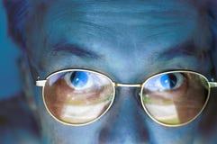 Fronte critico di aspettativa degli occhi degli elementi Fotografie Stock