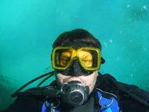 Fronte degli operatori subacquei Fotografia Stock Libera da Diritti