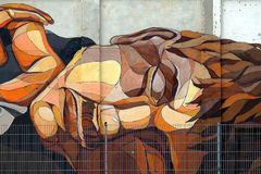 Fronte dei graffiti Fotografia Stock Libera da Diritti