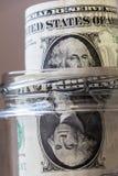 Fronte dei soldi che vi esamina Fotografia Stock