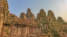 fronte del bayon in tempio Angkor Wat Siem Reap Cambogia del bayon fotografia stock libera da diritti