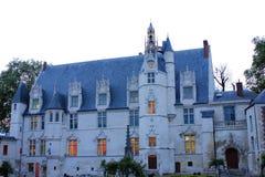 Fronte del castello medievale a Beauvais immagini stock