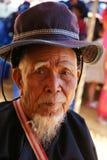 Fronte del cinese dell'uomo anziano Immagini Stock