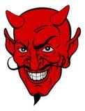 Fronte del fumetto del diavolo Fotografia Stock Libera da Diritti