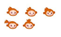Fronte del grafico di arte della stampa del png di divertimento della scimmia Immagini Stock Libere da Diritti