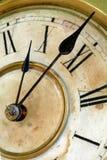 Fronte del grunge e vecchio di orologio immagini stock libere da diritti