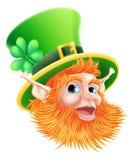 Fronte del leprechaun di giorno della st Patricks Fotografia Stock