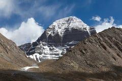 Fronte del nord della montagna di Kailash o della montagna di Sumeru immagine stock