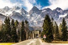 Fronte del nord della montagna di Spik dalla Martuljek-Slovenia Immagine Stock Libera da Diritti