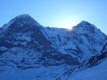 Fronte del nord di Eiger Fotografia Stock