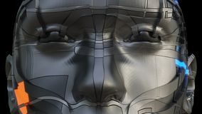 Fronte del robot futuristico di colore scuro illustrazione vettoriale