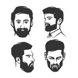 Fronte del ` s dell'uomo con la barba royalty illustrazione gratis