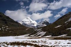 Fronte del sud del Monte Kailash sacro fotografia stock