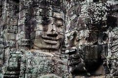 Fronte del tempio di Bayon fotografia stock libera da diritti
