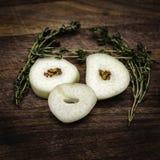 Fronte dell'aglio Fotografia Stock