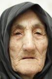 Fronte dell'anziana Fotografie Stock