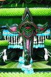 Fronte dell'elefante fatto dalla foglia della banana Immagini Stock Libere da Diritti