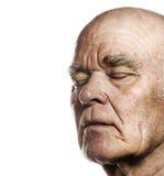 Fronte dell'uomo anziano Fotografie Stock Libere da Diritti