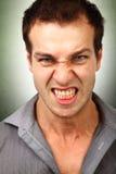 Fronte dell'uomo furioso arrabbiato fotografia stock libera da diritti