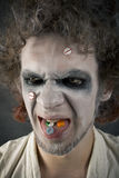 Fronte dell'uomo pazzesco Immagini Stock