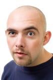 Fronte dell'uomo stampato in neretto mistrustful Fotografie Stock