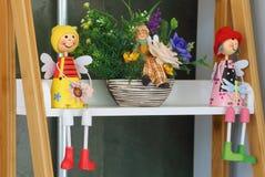 Fronte della bambola al forno dell'argilla di sorriso, fine su Fotografia Stock Libera da Diritti
