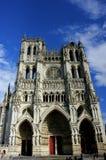 Fronte della cattedrale del ` s di Amiens immagine stock