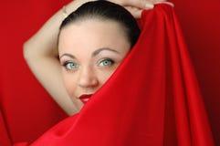 Fronte della donna Fotografia Stock