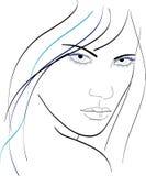 Fronte della donna illustrazione di stock